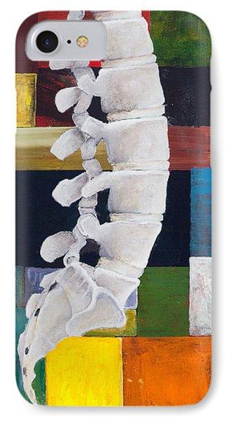 Lumbar Spine IPhone Case by Sara Young