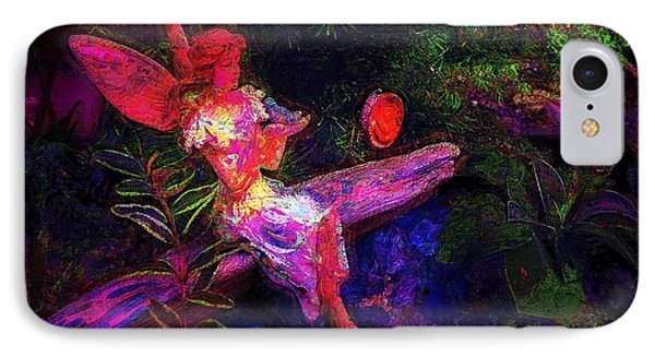 IPhone Case featuring the photograph Luminescent Night Fairy by Lori Seaman