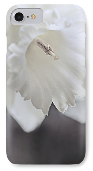 IPhone Case featuring the photograph Luminous Ivory Daffodil Flower by Jennie Marie Schell