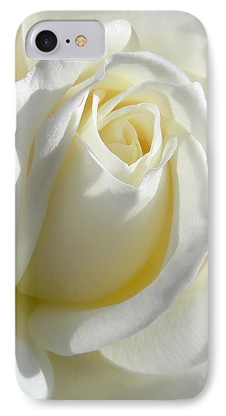 Luminous Ivory Rose Phone Case by Jennie Marie Schell