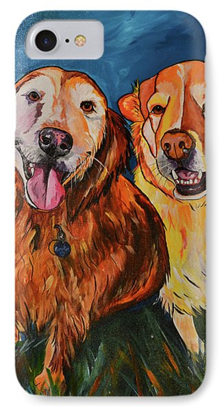 IPhone Case featuring the painting Luna And Pumpkin by Patti Schermerhorn