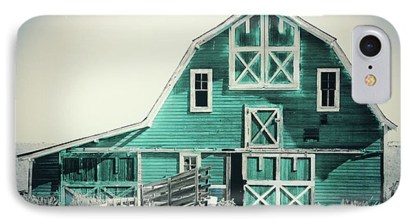 Luna Barn Teal IPhone Case by Mindy Sommers