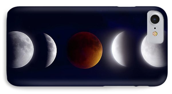 Lunar Eclipse Montage IPhone Case by Mark Andrew Thomas