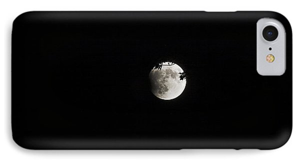 Lunar Eclipse Starting Phone Case by Mark Russell