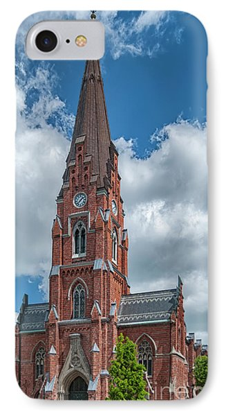 IPhone Case featuring the photograph Lund All Saints Church by Antony McAulay