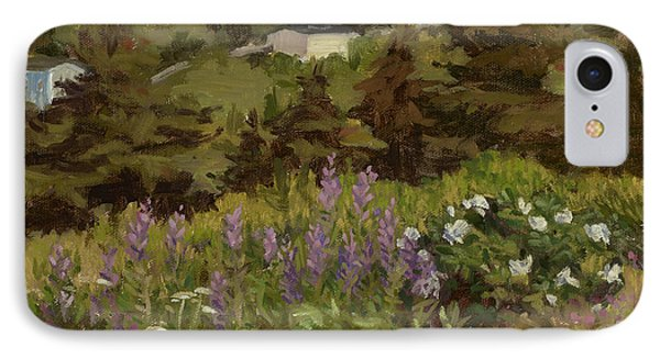 Lupine And Wild Roses IPhone Case