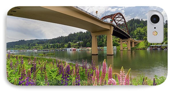 Lupine In Bloom By Sauvie Island Bridge Phone Case by David Gn