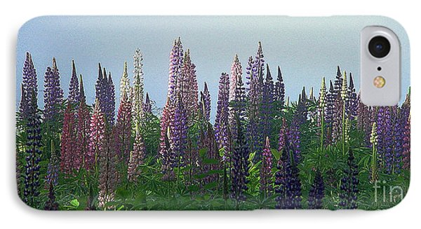 Lupine In Morning Light IPhone Case