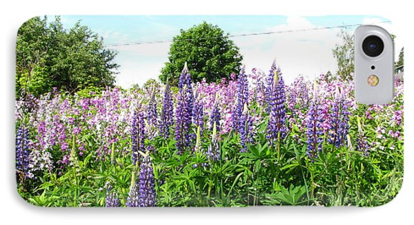 Lupins And Flocks Phone Case by Melissa Parks