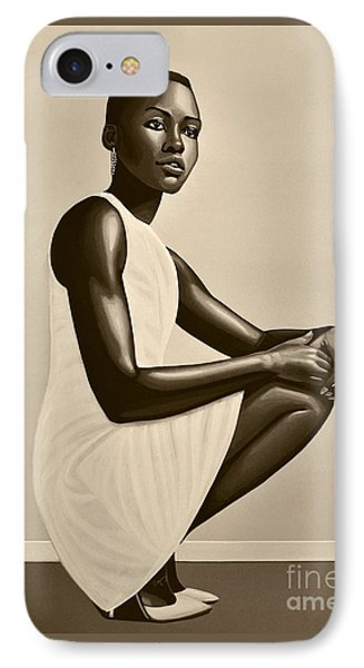 Lupita Nyong'o IPhone Case by Paul Meijering