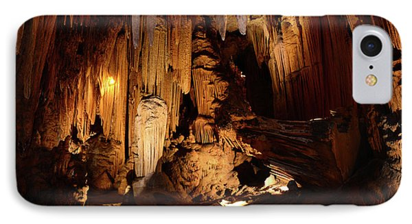 IPhone Case featuring the photograph Luray Dark Caverns by Paul Ward