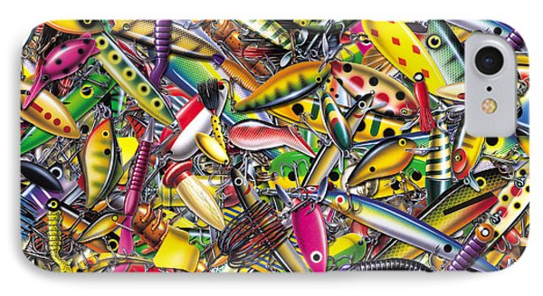 Lure Collage IPhone Case by Jon Q Wright