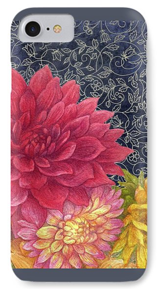 IPhone Case featuring the painting Lush Fall Botanical by Judith Cheng