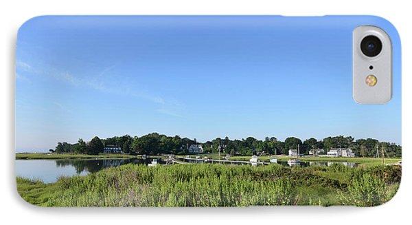 Lush Green Marsh Grass Along Duxbury Bay IPhone Case