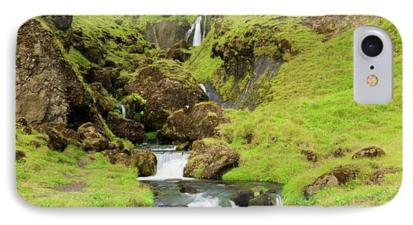 IPhone Case featuring the photograph Lush Icelandic Falls by Brad Scott