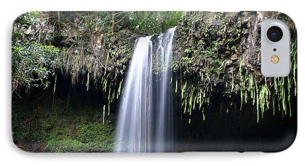 Lush Tropical Waterfall Twin Falls On Maui Hawaii Phone Case by Pierre Leclerc Photography