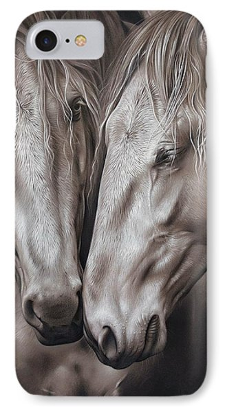 Lusitano Pair IPhone Case by Elena Kolotusha