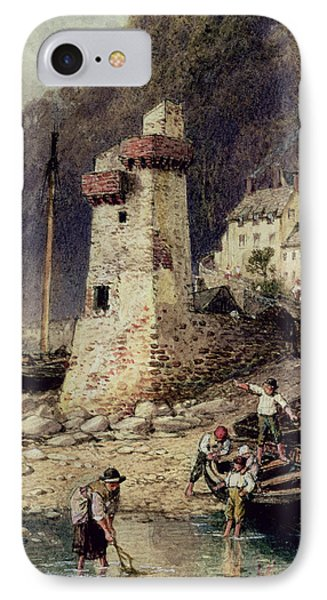Lynmouth In Devonshire IPhone Case by Myles Birket Foster