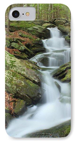 Lynnes Falls New England National Scenic Trai IPhone Case by John Burk