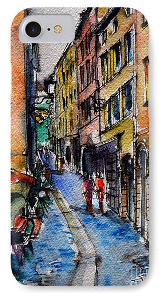 Lyon Cityscape - Street Scene #04 - Rue Du Boeuf IPhone Case by Mona Edulesco