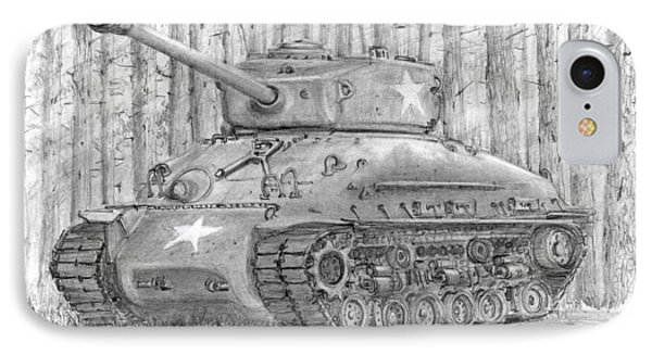 M-4 Sherman Tank IPhone Case