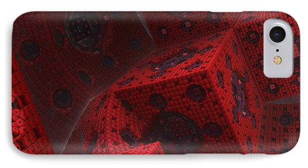IPhone Case featuring the digital art M Cubed by Lyle Hatch