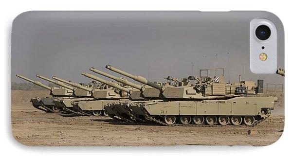 M1 Abrams Tanks At Camp Warhorse IPhone Case