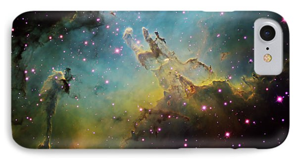 M16 The Eagle Nebula IPhone Case by Ken Crawford