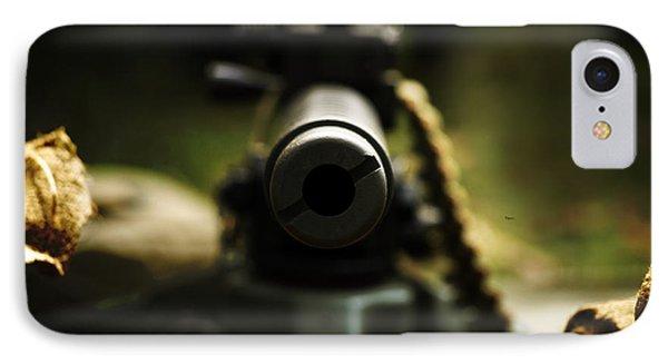 M1919 Browning Machine Gun Phone Case by Steven  Digman
