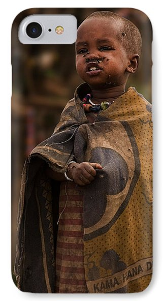 Maasai Boy Phone Case by Adam Romanowicz