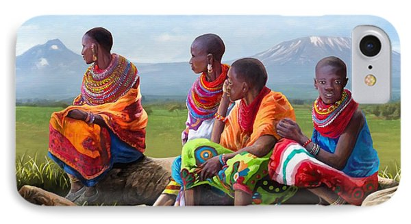 Maasai Women IPhone Case