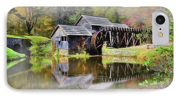 Mabry Grist Mill IPhone Case by Sharon Batdorf