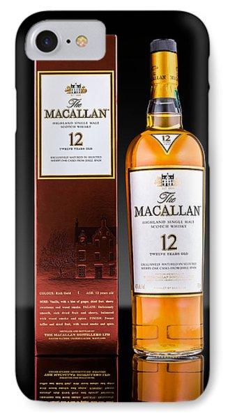 Macallan Single Malt Whisky IPhone Case by Mihai Andritoiu