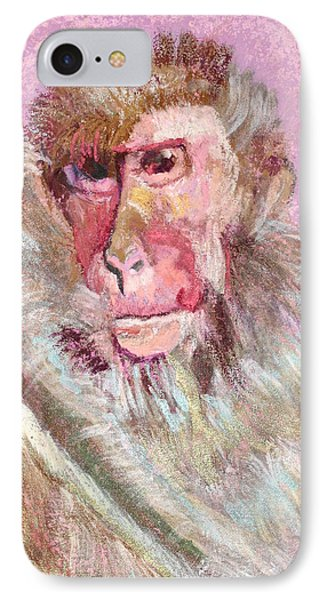 Macaque IPhone Case by Jamie Downs
