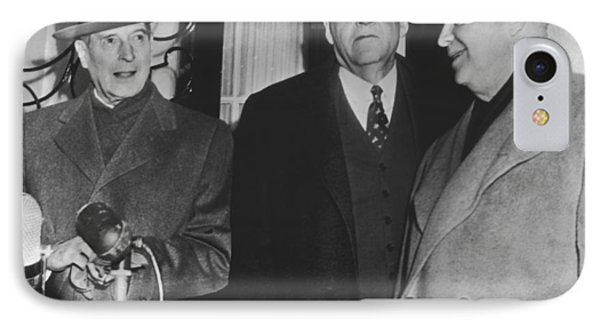 Macarthur, Dulles, Eisenhower IPhone Case by Underwood Archives