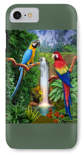 Macaw Tropical Parrots IPhone Case by Glenn Holbrook