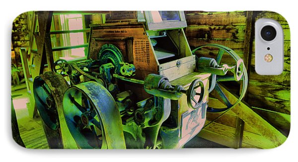 IPhone Case featuring the photograph Machinery In An Old Grist Mill by Jeff Swan