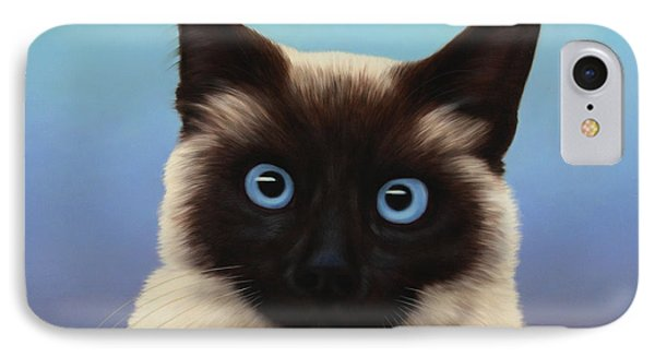 Cat iPhone 7 Case - Machka 2001 by James W Johnson