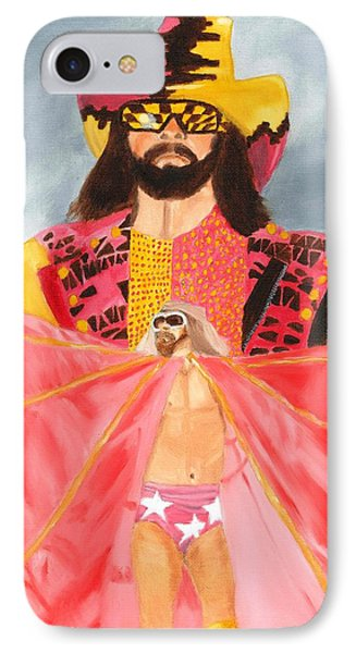 Macho Man Randy Savage Wwe Portrait IPhone Case