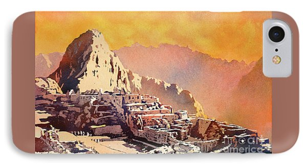 IPhone Case featuring the painting Machu Picchu Sunset by Ryan Fox