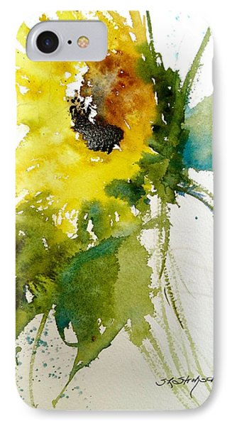 Maci's Sunflower IPhone Case by Sandra Strohschein