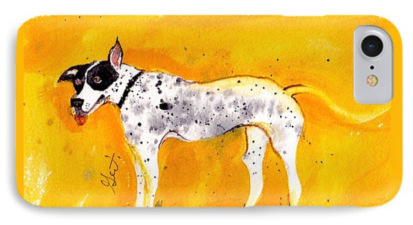IPhone Case featuring the painting Mack The Pit/dalmatian by Gertrude Palmer