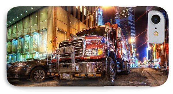 Mack Truck Nyc IPhone Case by Yhun Suarez