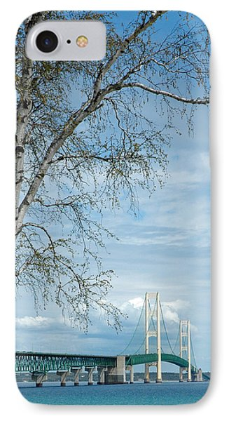 Mackinac Bridge Birch IPhone Case