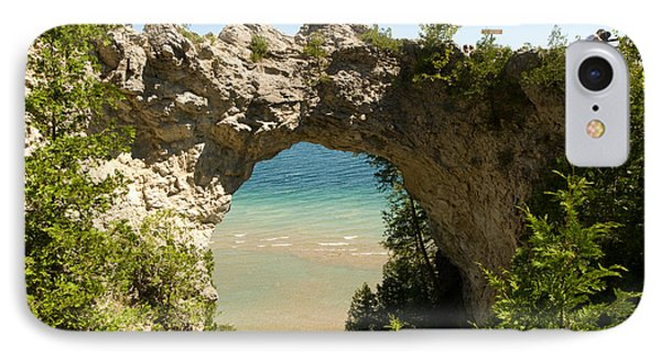 Mackinac Island Arch IPhone Case by Larry Carr