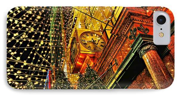 Macy's Christmas Lights IPhone Case by Randy Aveille