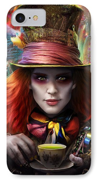 Mad As A Hatter Phone Case by Omri Koresh