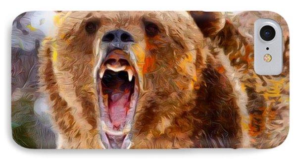 Mad Bear Portrait  IPhone Case