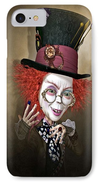 Mad Hatter IPhone Case by G Berry