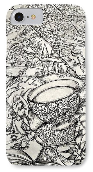 Mad Hatter And His Tea IPhone Case